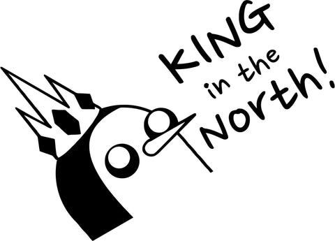 Adventure Time - Gunter King North - Vinyl Car Window and Laptop Decal Sticker
