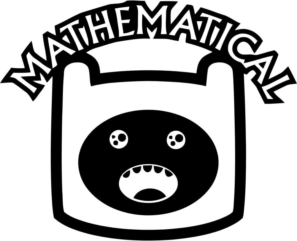 Adventure Time - Inspired Finn Mathematical - Vinyl Car Window and Laptop Decal Sticker - Decal - Car and Laptop Window Decal Sticker - 1