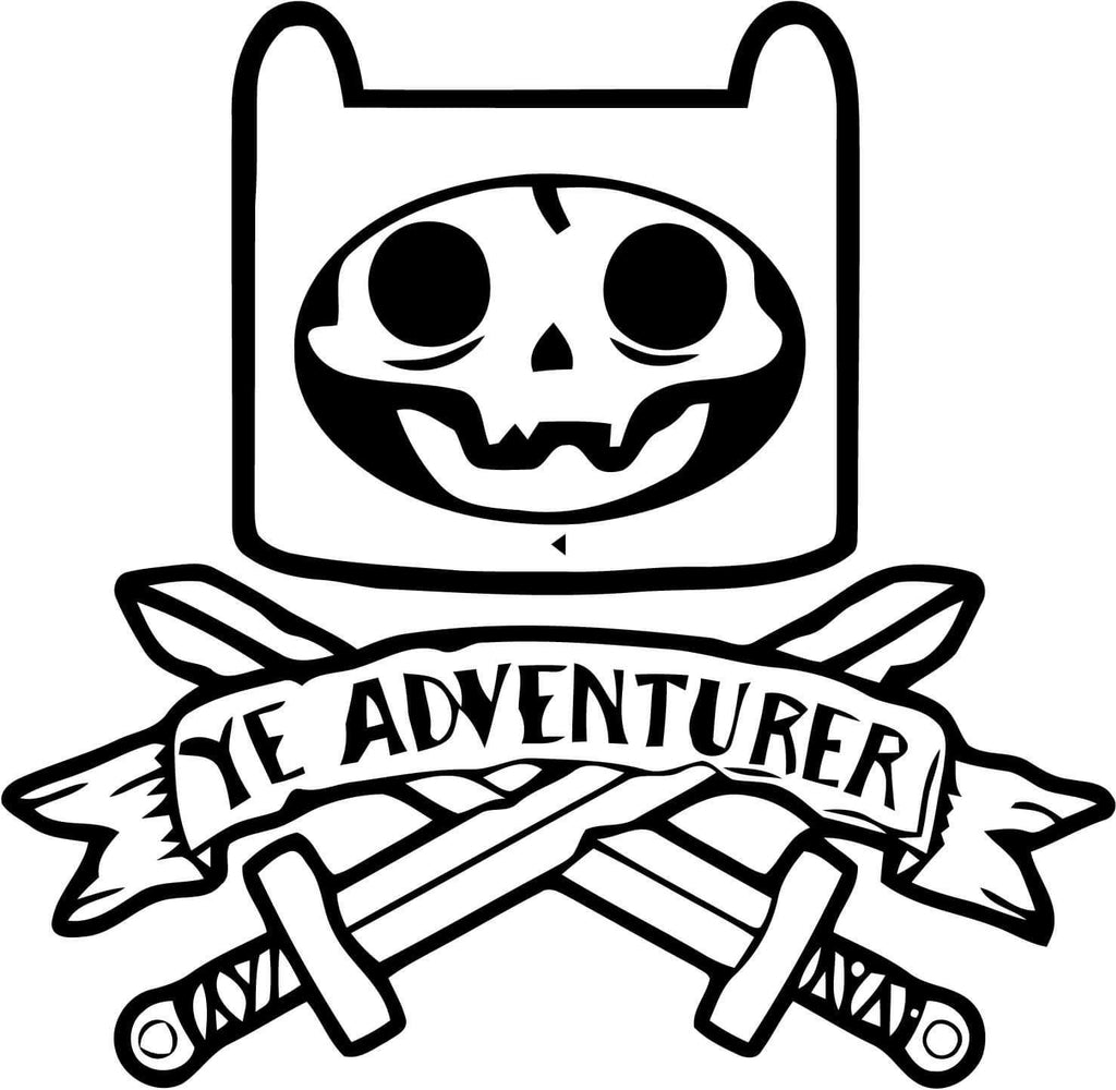 Adventure Time - Inspired Finn Pirate - Vinyl Car Window and Laptop Decal Sticker - Decal - Car and Laptop Window Decal Sticker - 1