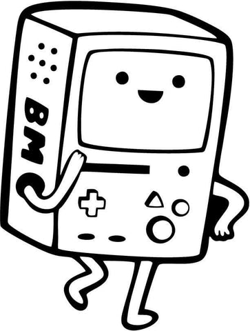 Adventure Time - Beemo - Vinyl Car Window and Laptop Decal Sticker