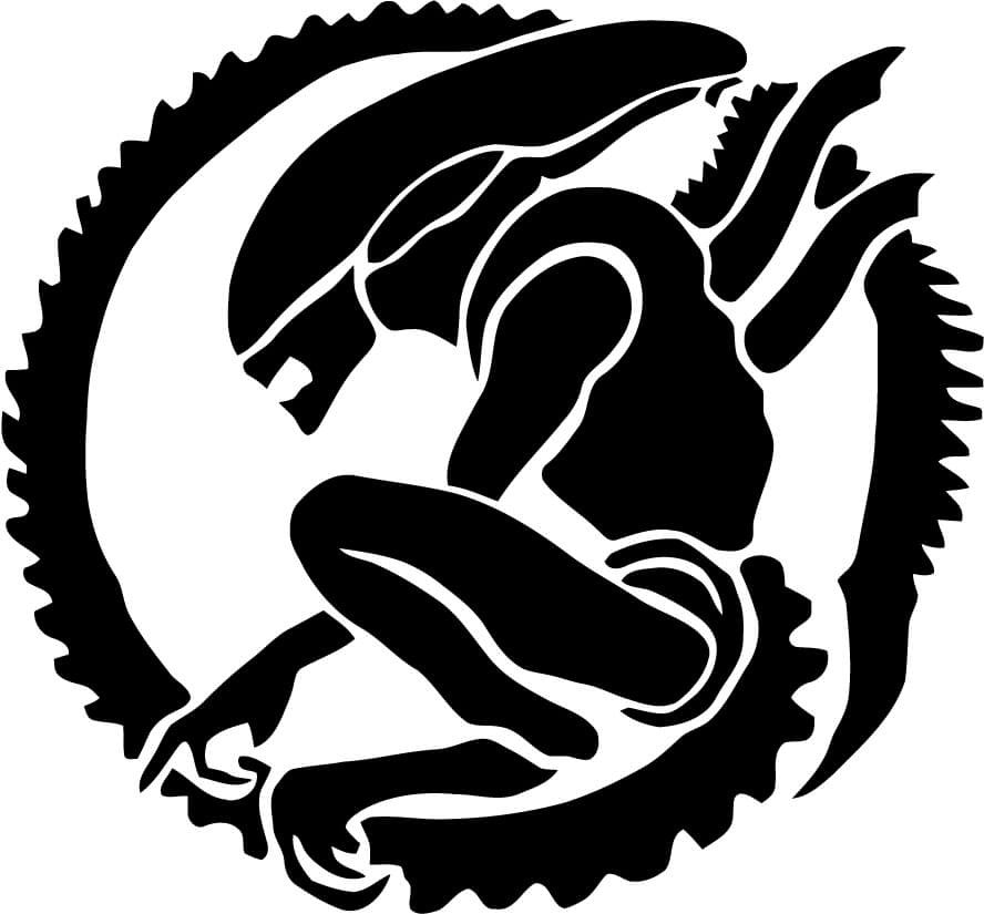 Alien xenomorph vinyl car window laptop decal sticker decal gremlins