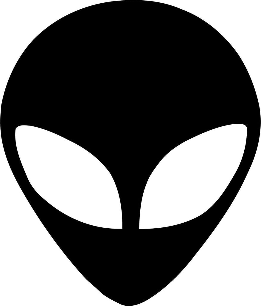 Alien Head - UFO Funny ET - Vinyl Car Window and Laptop Decal Sticker - Decal - Car and Laptop Window Decal Sticker - 1