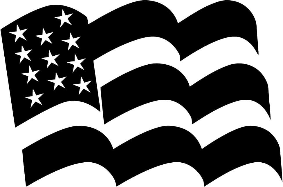 American Flag USA Stars United States Car Window Laptop Decal Sticker