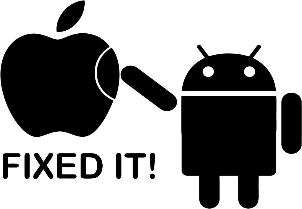 Android - Fixed It - Vinyl Car Window and Laptop Decal Sticker - Decal - Car and Laptop Window Decal Sticker - 1