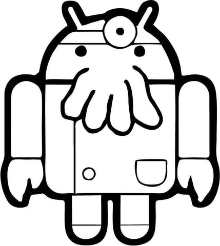 Android - Futurama Zoidberg - Vinyl Car Window and Laptop Decal Sticker