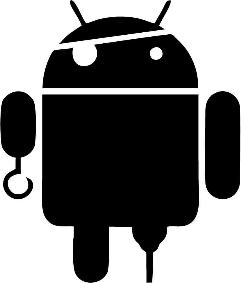 Android - Pirate - Vinyl Car Window and Laptop Decal Sticker - Decal - Car and Laptop Window Decal Sticker - 1