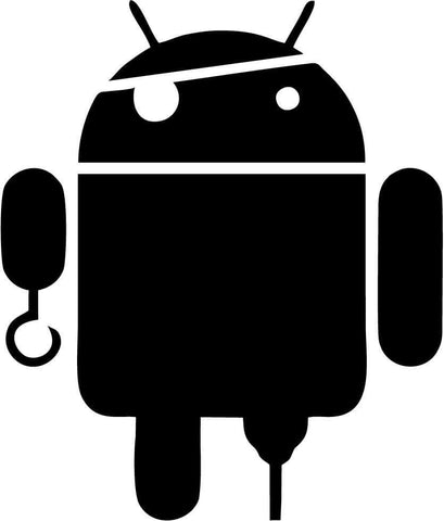 Android - Pirate - Vinyl Car Window and Laptop Decal Sticker