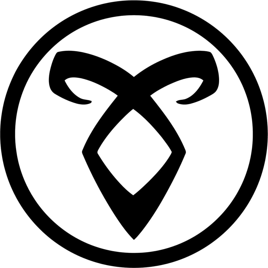 Angelic Power Rune - Vinyl Car Window and Laptop Decal Sticker - Decal - Car and Laptop Window Decal Sticker - 1