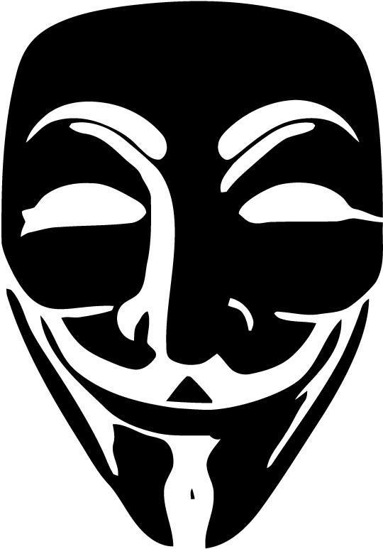 Anonymous - Guy Fawkes Mask - Vinyl Car Window and Laptop Decal Sticker - Decal - Car and Laptop Window Decal Sticker - 1