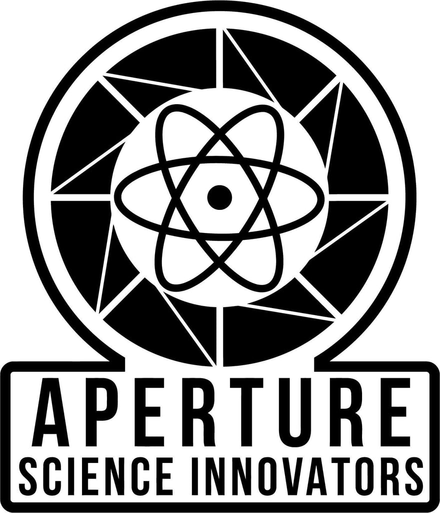 Aperature Science Innovators Logo - Vinyl Car Window and Laptop Decal Sticker - Decal - Car and Laptop Window Decal Sticker - 1