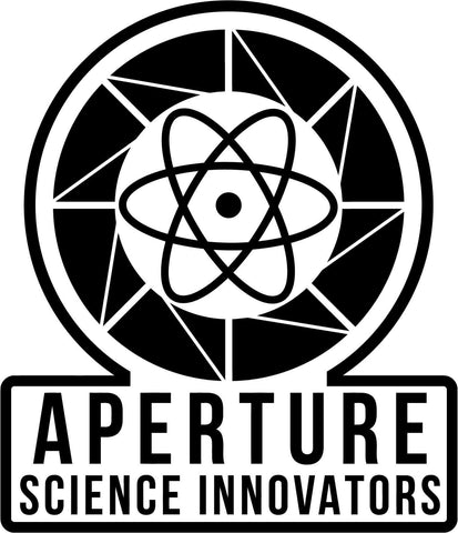 Aperture Science Innovators Logo - Vinyl Car Window and Laptop Decal Sticker