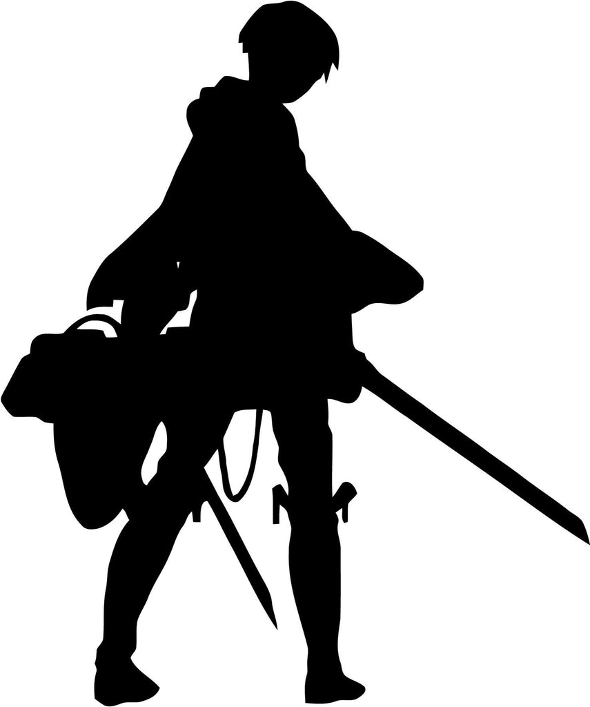 Attack on Titan - Levi Silhouette - Vinyl Car Window and Laptop Decal Sticker - Decal - Car and Laptop Window Decal Sticker - 1