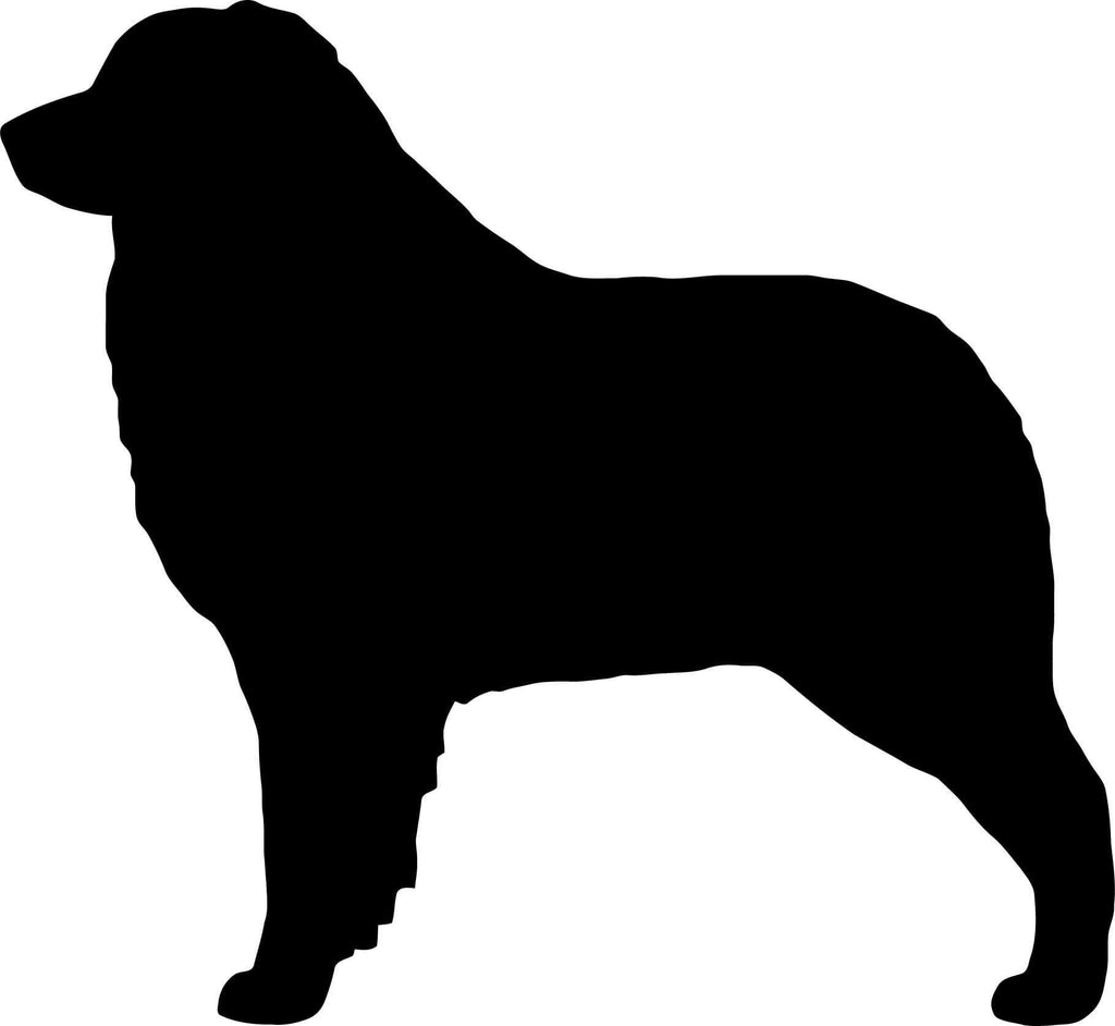 Australian Shepherd Dog Silhouette Vinyl Car Window Laptop Decal Sticker