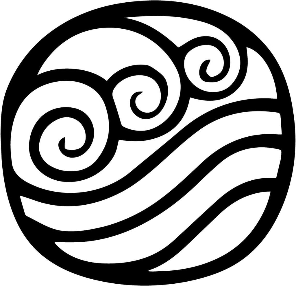 Avatar Waterbending Nation Vinyl Car Window Laptop Decal Sticker