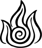 Avatar Fire Nation Vinyl Car Window Laptop Decal Sticker