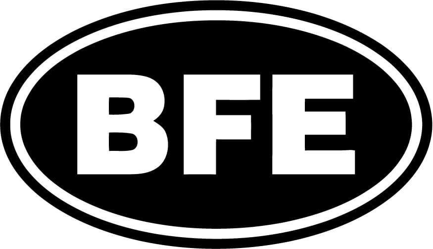 BFE oval euro Vinyl Car Window Laptop Decal Sticker