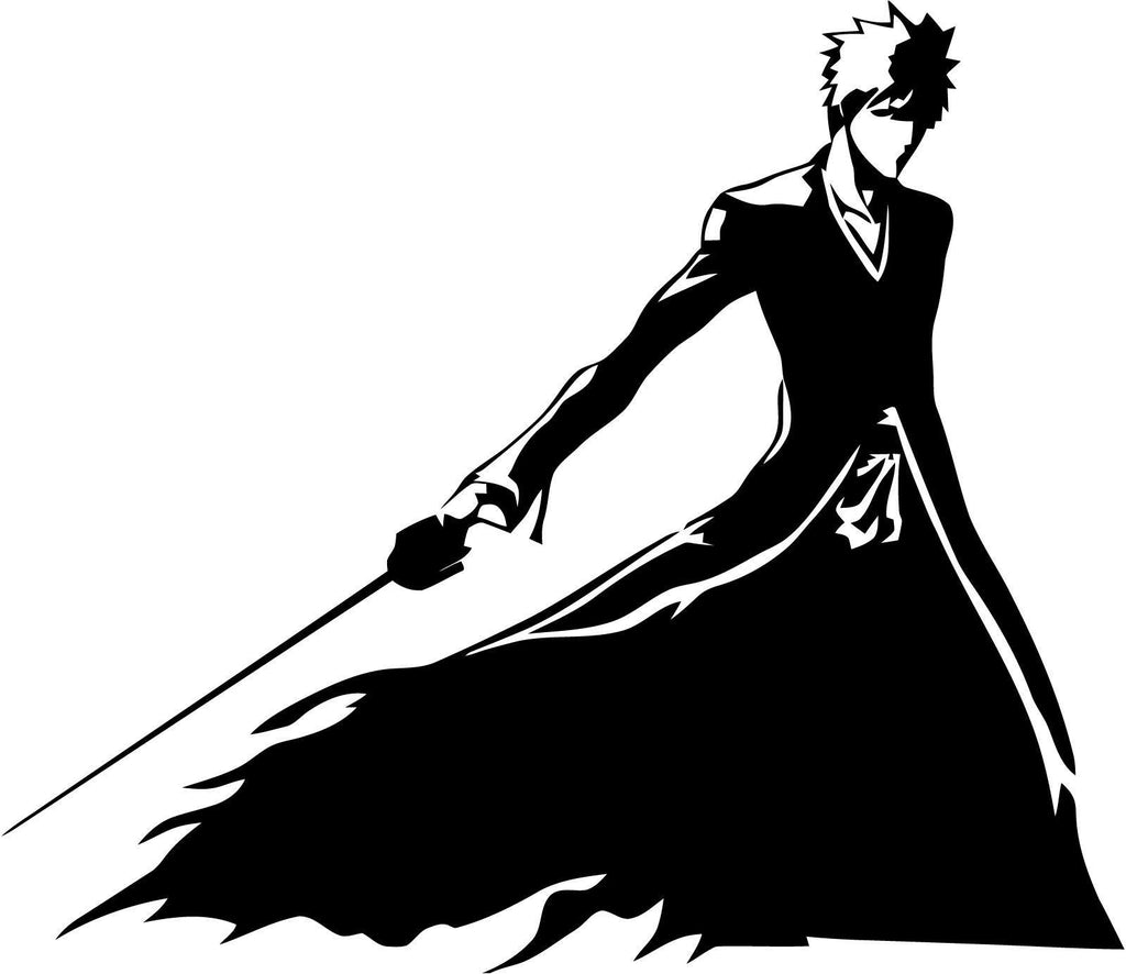 Bleach - Ichigo Ban Kai - Vinyl Car Window and Laptop Decal Sticker - Decal - Car and Laptop Window Decal Sticker - 1
