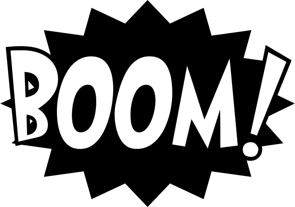 BOOM! Comic Book Exclamation - Vinyl Car Window and Laptop Decal Sticker - Decal - Car and Laptop Window Decal Sticker - 1