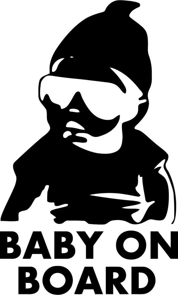 Baby on Board Cool baby Vinyl Car Window Laptop Decal Sticker