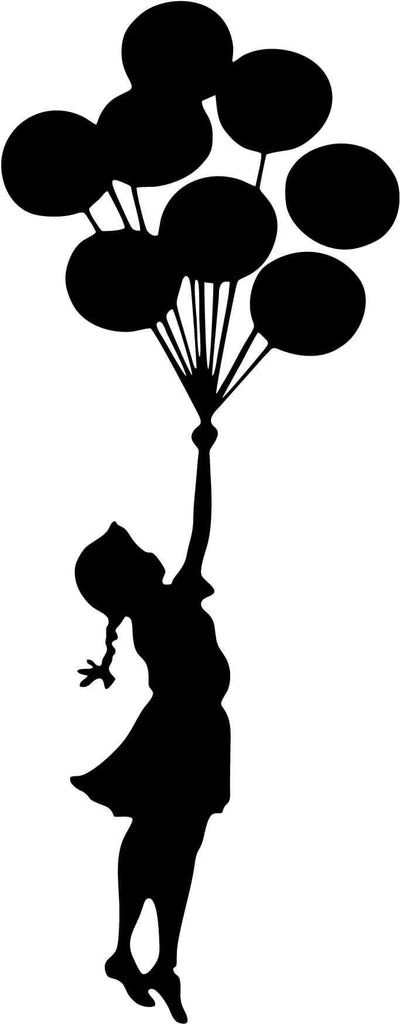 Banksy Flying Balloons Girl Graffiti Art Vinyl Car Window Laptop Decal Sticker