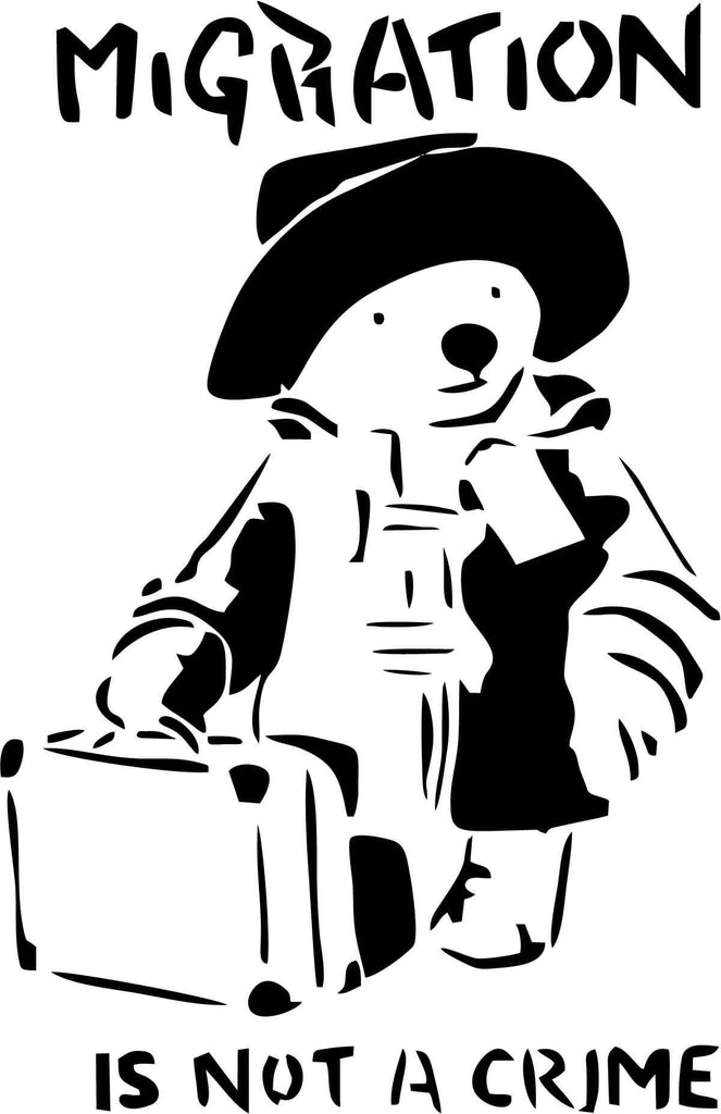 Banksy - Paddington - Vinyl Car Window and Laptop Decal Sticker - Decal - Car and Laptop Window Decal Sticker - 1