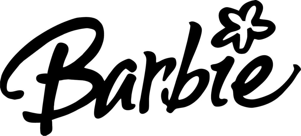 Barbie - With Flower - Vinyl Car Window and Laptop Decal Sticker - Decal - Car and Laptop Window Decal Sticker - 1