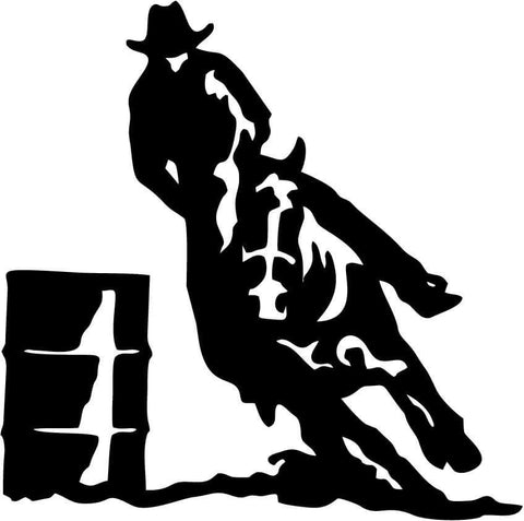 Barrel Racing Rodeo Horse Trailer Vinyl Car Window Laptop Decal Sticker