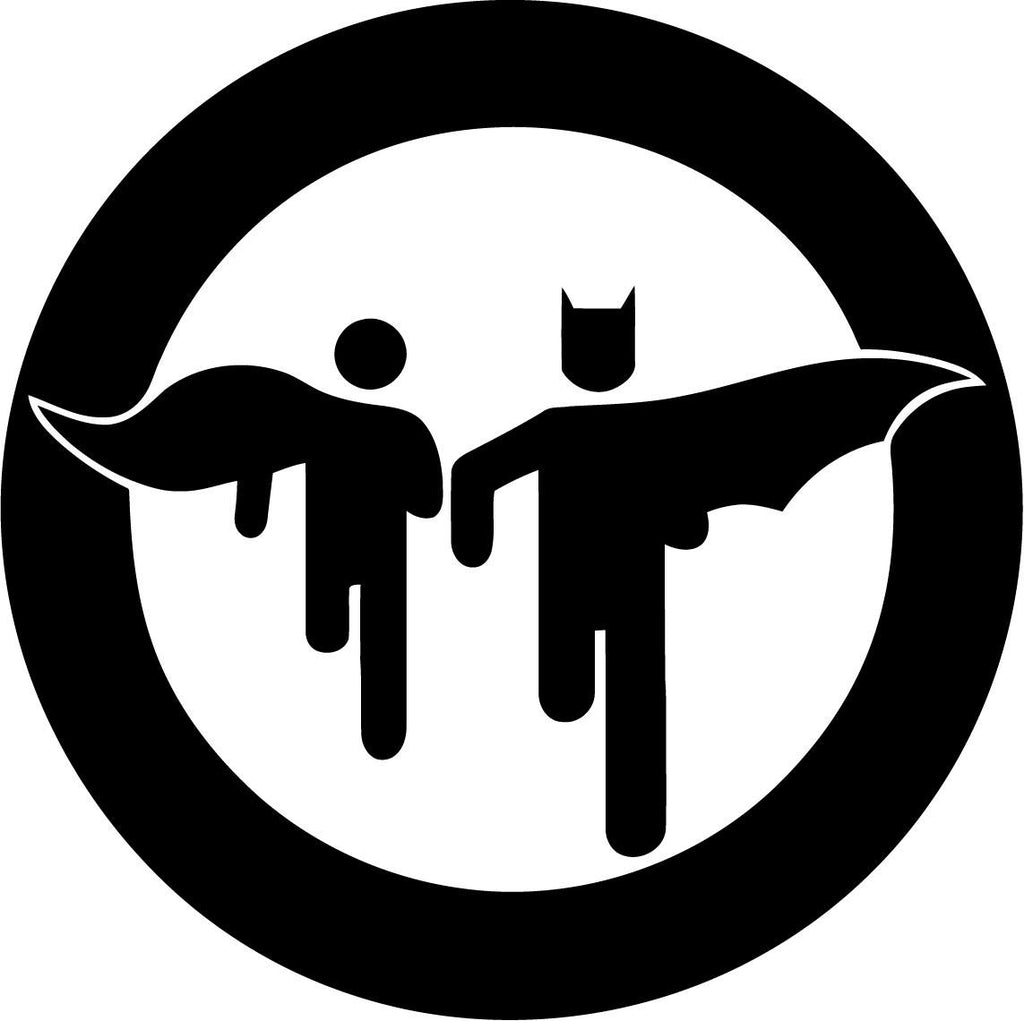 Batman and Robin - Vinyl Car Window and Laptop Decal Sticker - Decal - Car and Laptop Window Decal Sticker - 1