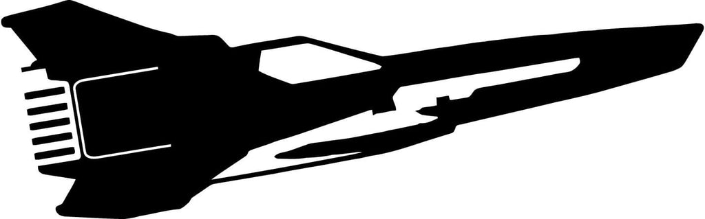 Battlestar Galactica MKII Viper Ship Silhouette Car Window Laptop Decal Sticker