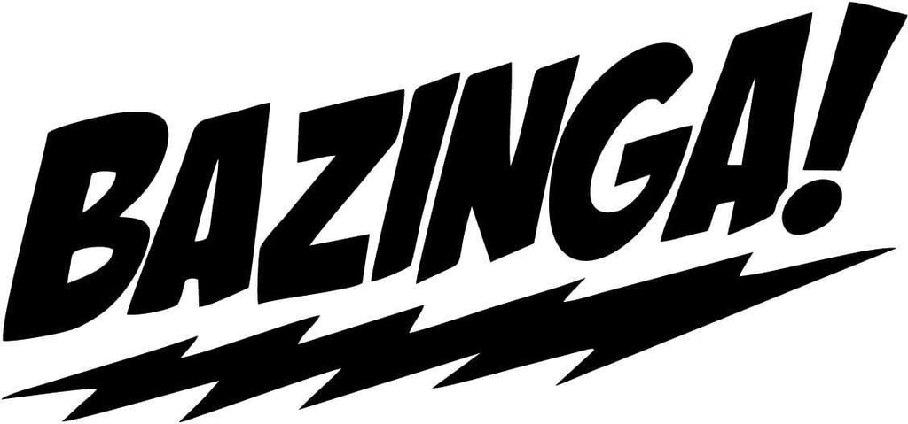 Bazinga Big Bang Theory Sheldon Vinyl Car Window Laptop Decal Sticker
