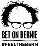 Bernie Sanders - Feel The Bern with Glasses - Vinyl Car Window and Laptop Decal Sticker - Decal - Car and Laptop Window Decal Sticker - 1