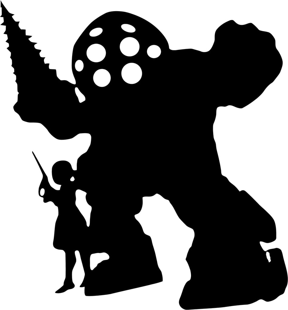 BioShock Infinite Big Daddy Sister Vinyl Car Window Laptop Decal Sticker