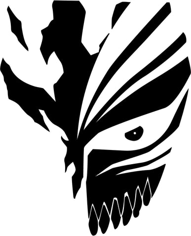 Bleach Ichigo Mask Vinyl Car Window Laptop Decal Sticker