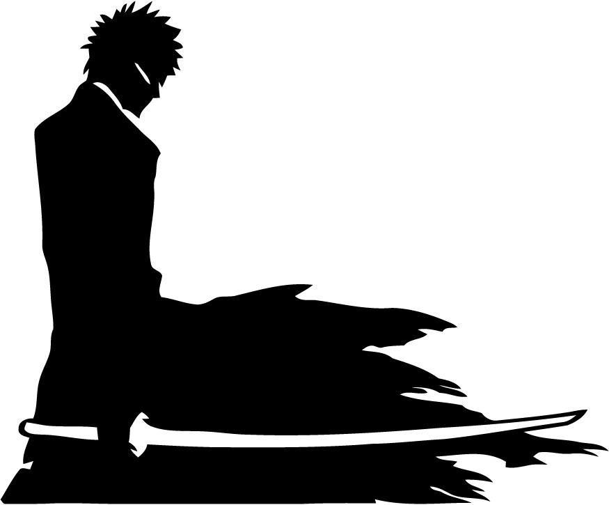 Bleach - Ichigo Knife - Vinyl Car Window and Laptop Decal Sticker - Decal - Car and Laptop Window Decal Sticker - 1