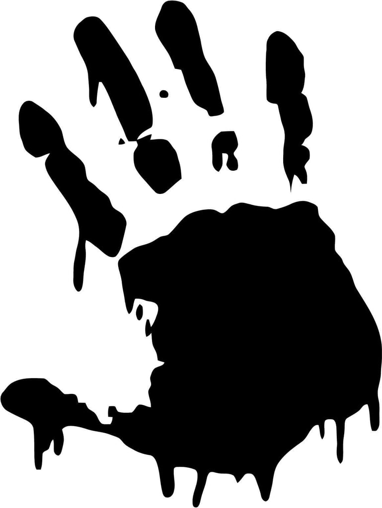 Bloody Zombie Handprint - Vinyl Car Window and Laptop Decal Sticker - Decal - Car and Laptop Window Decal Sticker - 1