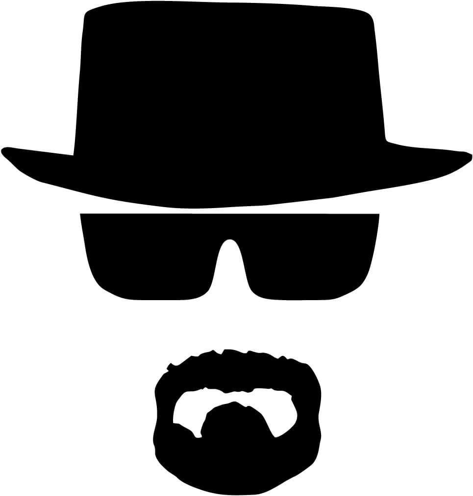 Breaking Bad - Heisenburg Walter White - Vinyl Car Window and Laptop Decal Sticker - Decal - Car and Laptop Window Decal Sticker - 1