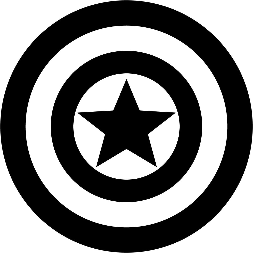 Captain America Emblem  - Vinyl Car Window and Laptop Decal Sticker - Decal - Car and Laptop Window Decal Sticker - 1