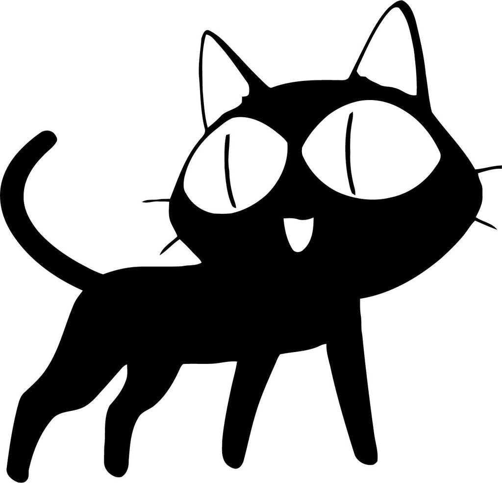 Cat - Anime Style - Decal - Car and Laptop Window Decal Sticker - 1