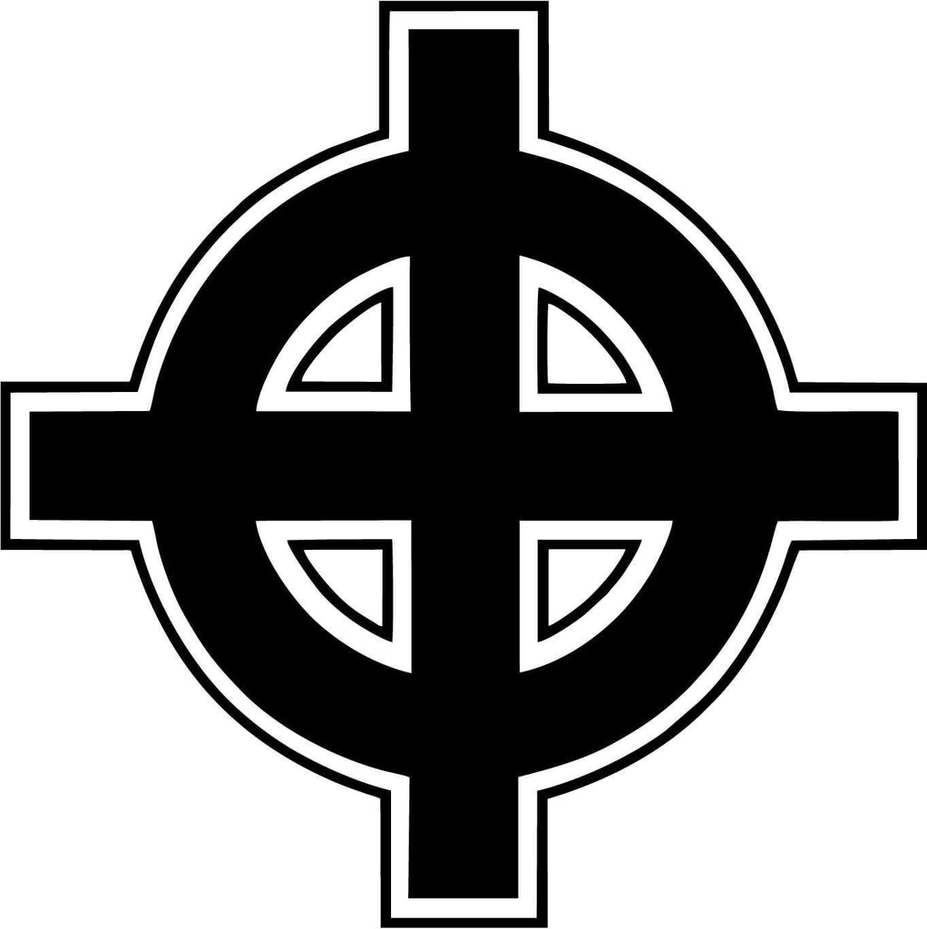 Celtic Cross - Vinyl Car Window and Laptop Decal Sticker - Decal - Car and Laptop Window Decal Sticker - 1