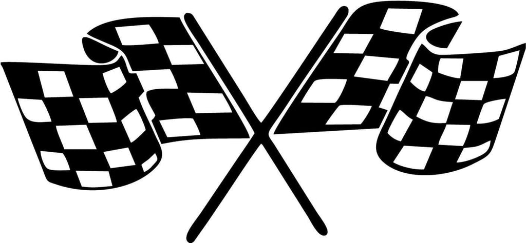 Checkered Flags - Vinyl Car Window and Laptop Decal Sticker - Decal - Car and Laptop Window Decal Sticker - 1