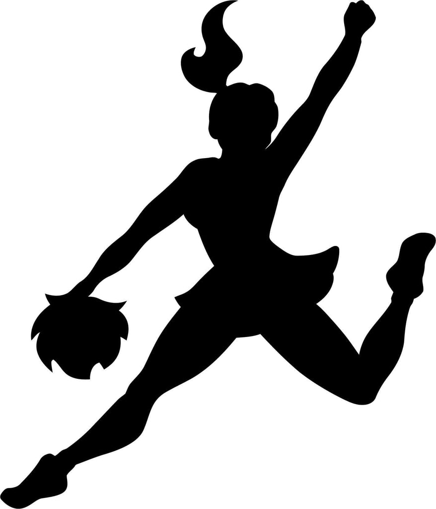 Cheerleader Cheer Jump - Vinyl Car Window and Laptop Decal Sticker - Decal - Car and Laptop Window Decal Sticker - 1