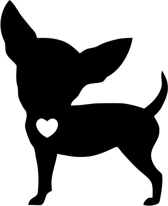 Chihuahua heart Vinyl Car Window Laptop Decal Sticker