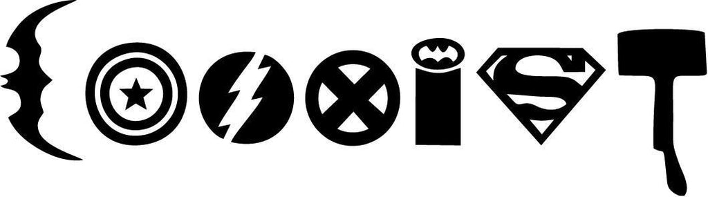 Coexist Superhero Vinyl Car Window Laptop Decal Sticker