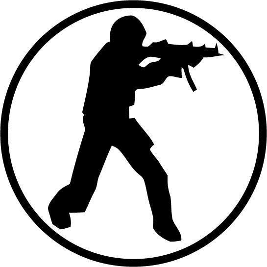 Counter Strike - Logo - Vinyl Car Window and Laptop Decal Sticker - Decal - Car and Laptop Window Decal Sticker - 1