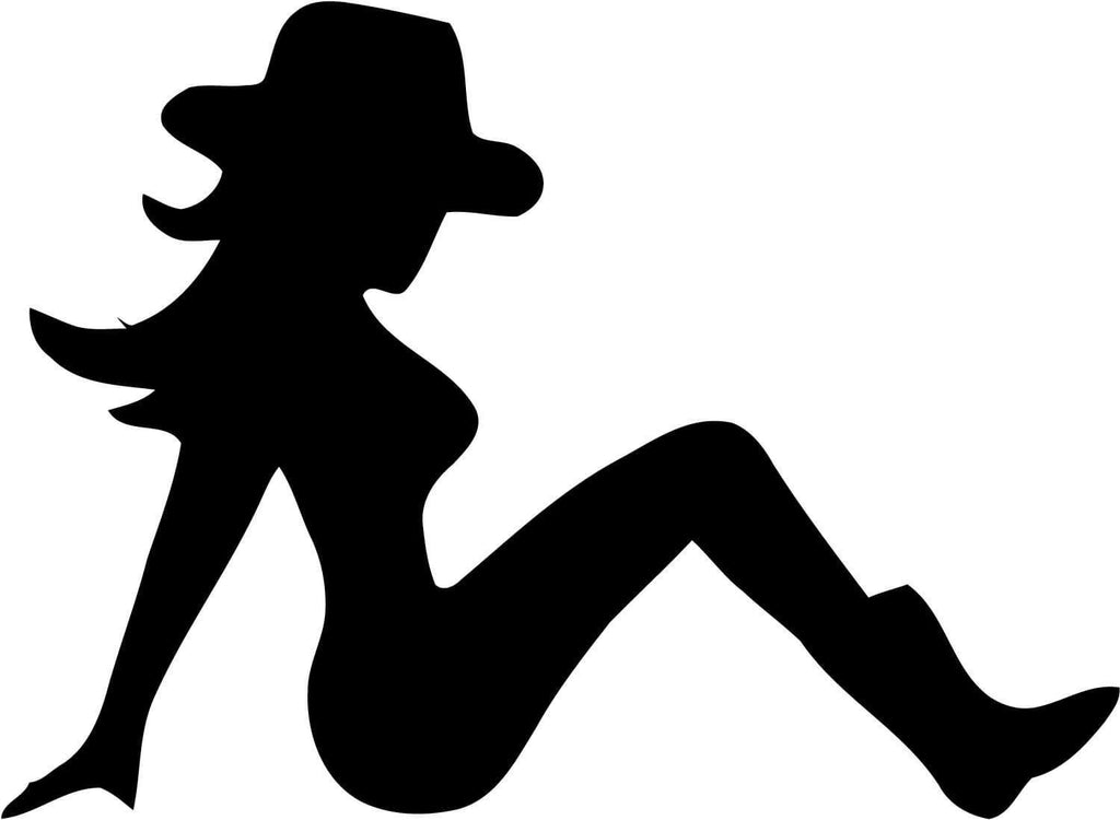 Cowgirl Mudflap - Vinyl Car Window and Laptop Decal Sticker - Decal - Car and Laptop Window Decal Sticker - 1