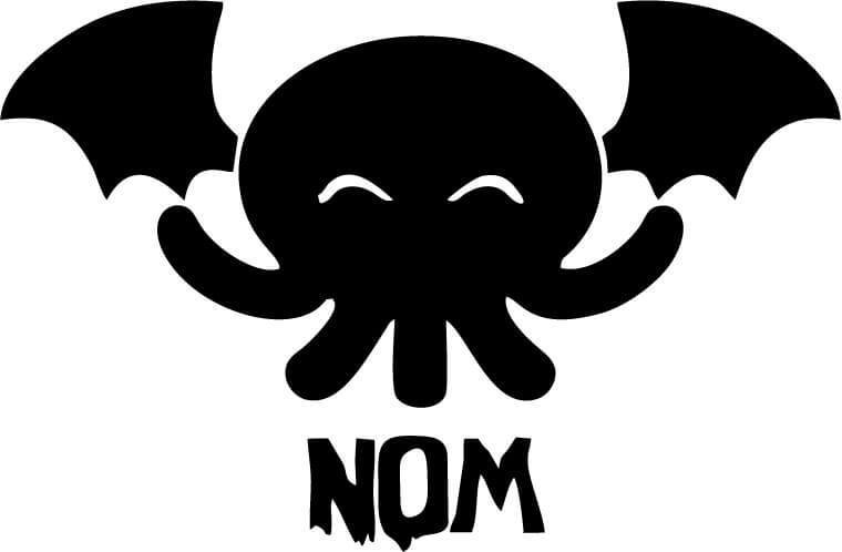 Cthulhu Nom Vinyl Car Window Laptop Decal Sticker