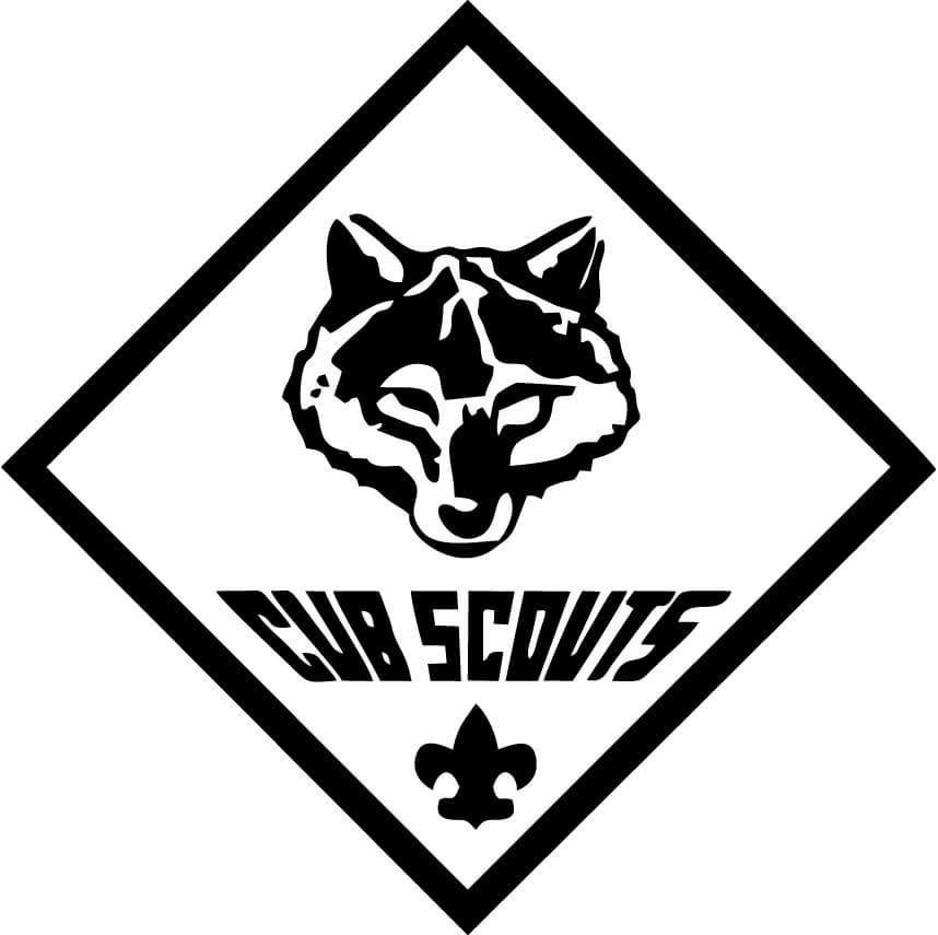 Cub Scouts Wolf Vinyl Car Window Laptop Decal Sticker