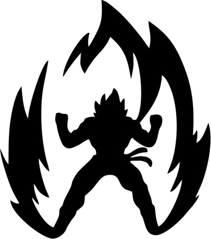 DBZ Dragon Ball Z Super Saiyan Goku Vinyl Car Window Laptop Decal Sticker