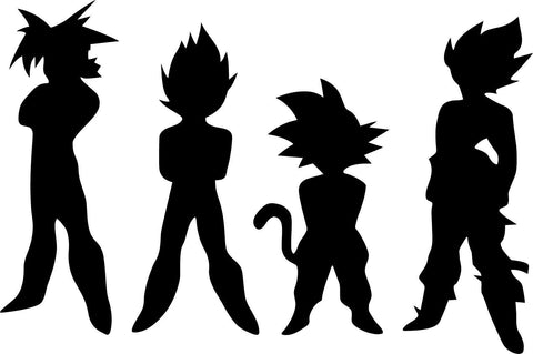 Dragon Ball Z DBZ Team Vinyl Car Window Laptop Decal Sticker
