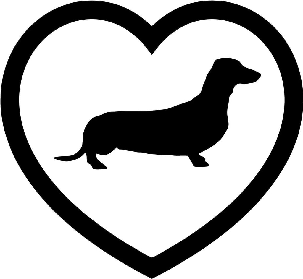 Dachshund Heart Vinyl Car Window Laptop Decal Sticker